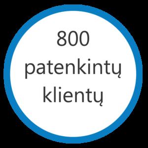 800 klientų